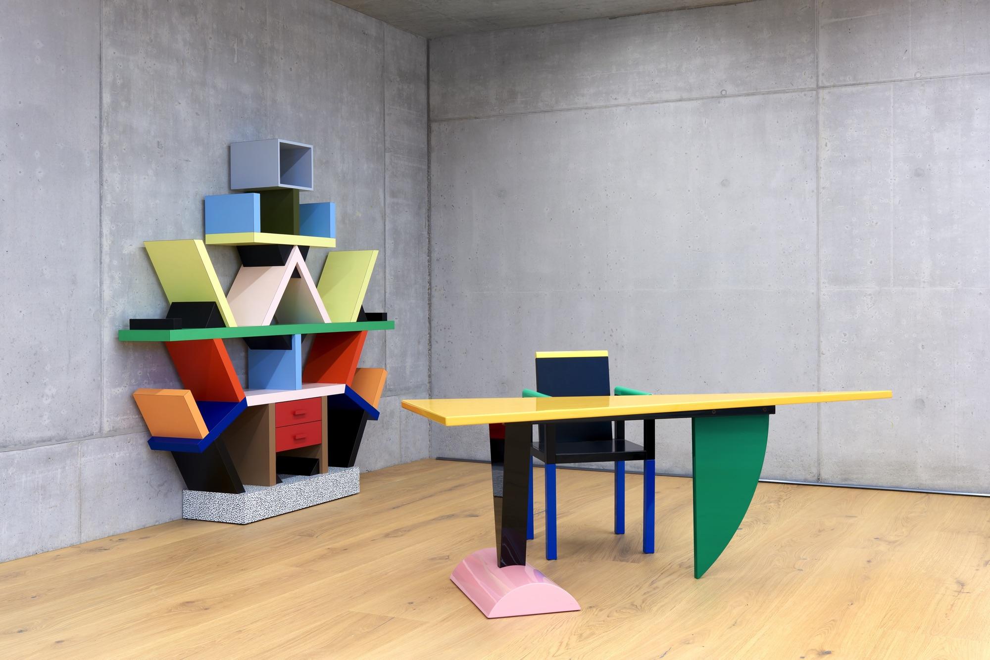 Grieder contemporary sottsass installation view 2 for Memphis sottsass