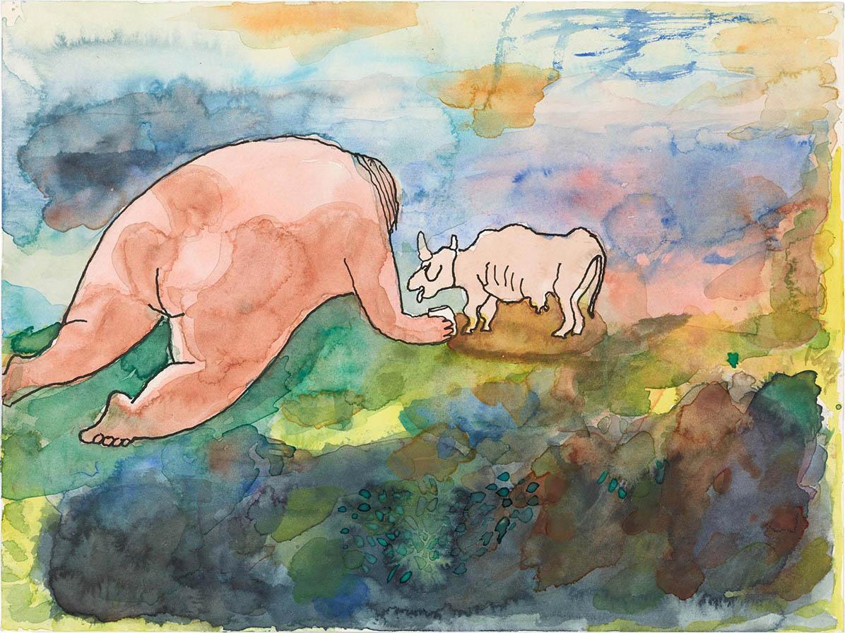 Jonas Lipps, <em> Sans titre (21-03-15) </ em>, 2015<br /> Aquarelle et encre de chine sur papier<br /> 24 x 32 cm
